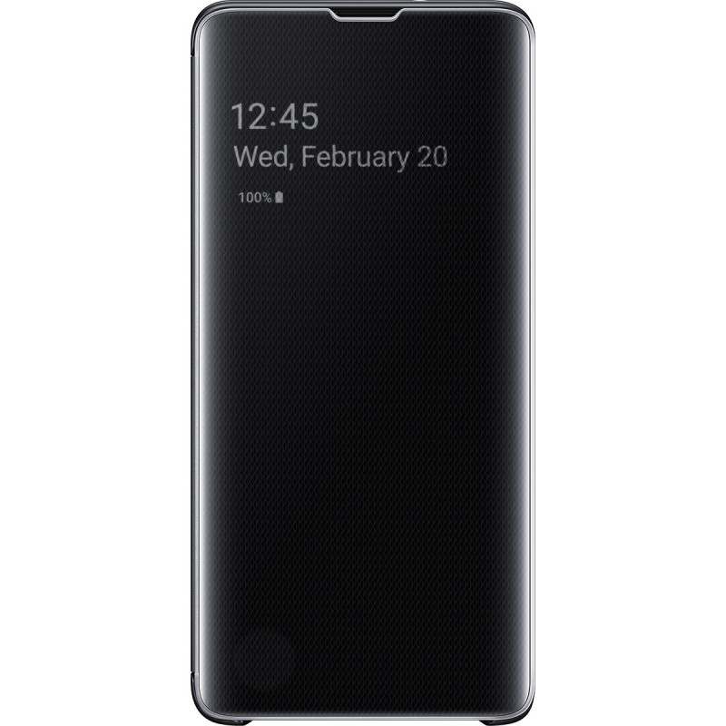 Husă Samsung Clear View Cover (Black), Galaxy S10,