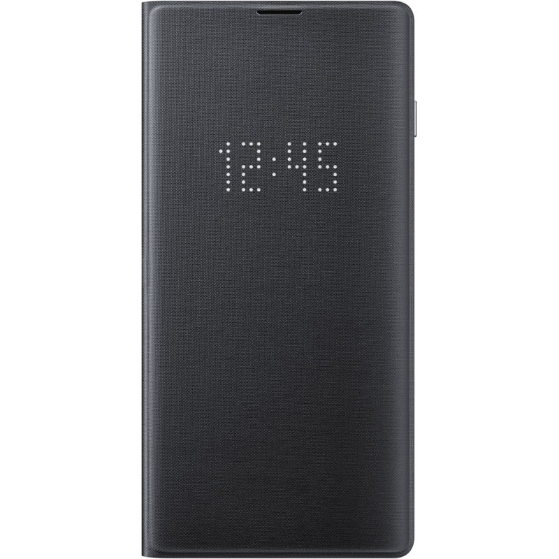 Husă Samsung LED View Cover (Black), Galaxy S10,