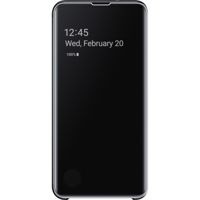 Husă Samsung Clear View Cover (Black), Galaxy S10e,