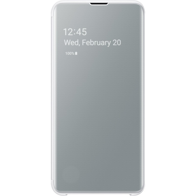 Чехол Samsung Clear View Cover (White) для Galaxy S10e,