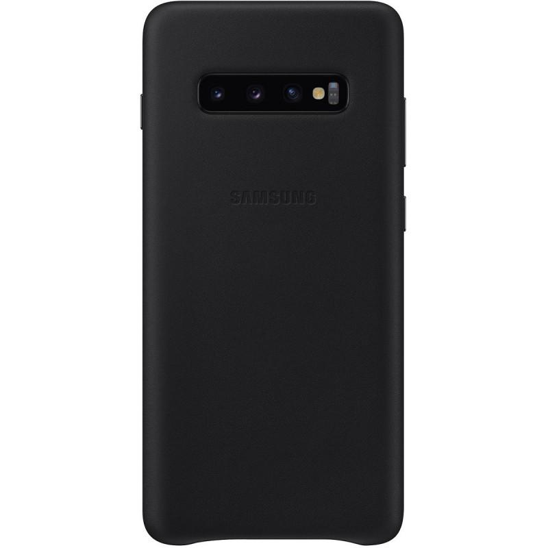 Husă Samsung Leather Cover (Black), Galaxy S10+,